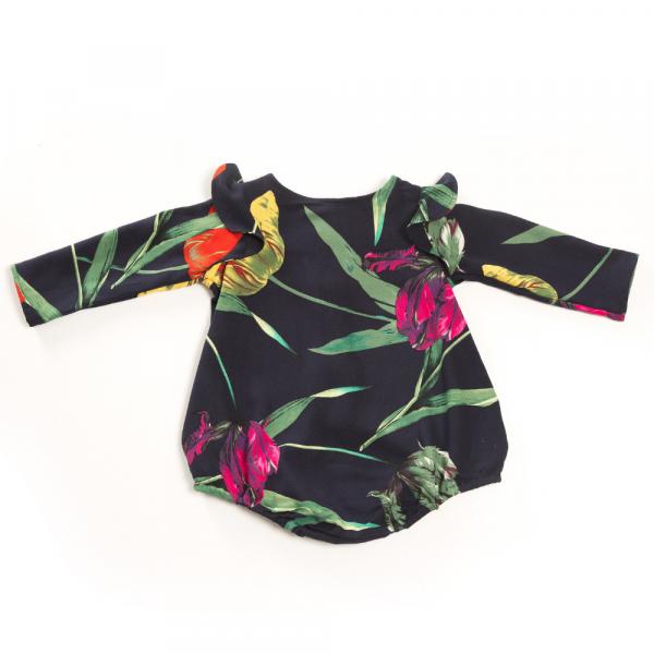 pagliaccetto camicia in viscosa da bambina