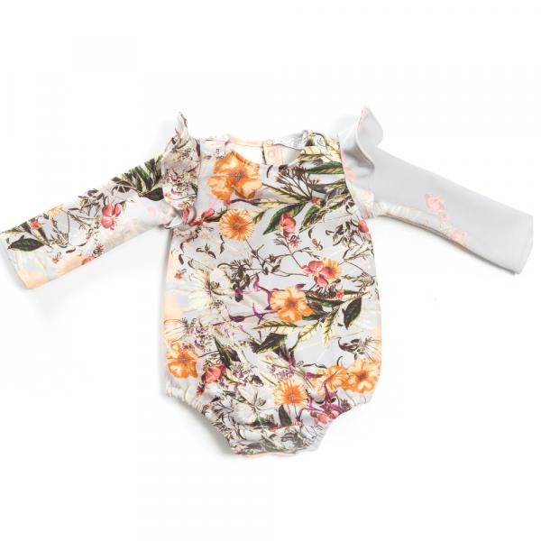 camicia body a fiori da bambina in neoprene