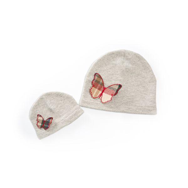 cappello minime bambina e mamma farfalle
