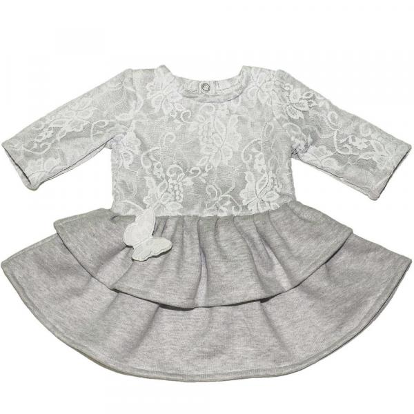 abito da bambina in felpa grigio