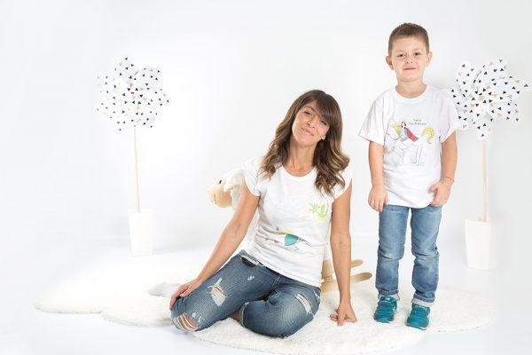 maglia minime mamma e figlio salva la regina