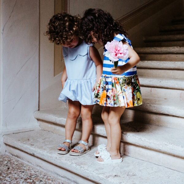 vestito da bambina Aurora in cotone elegante