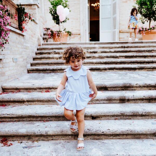 abito in cotone elegante Aurora da bambina