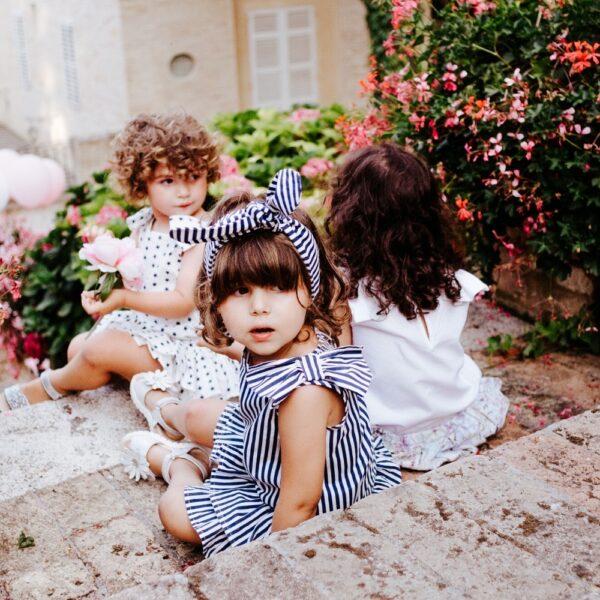 pagliaccetto Ioris a righe blu da bambina