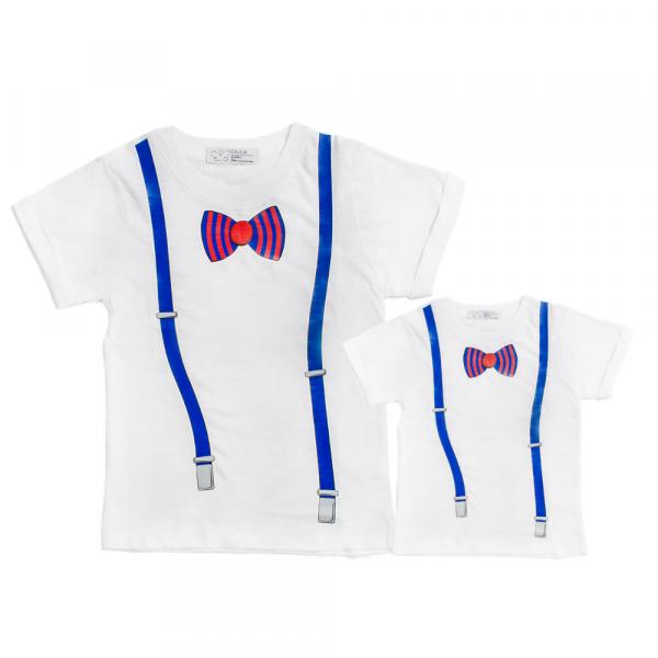 maglia minime papà e figlio in cotone con stampa
