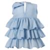 dettaglio abito cerimonia bambina elegante Beatrice azzurro