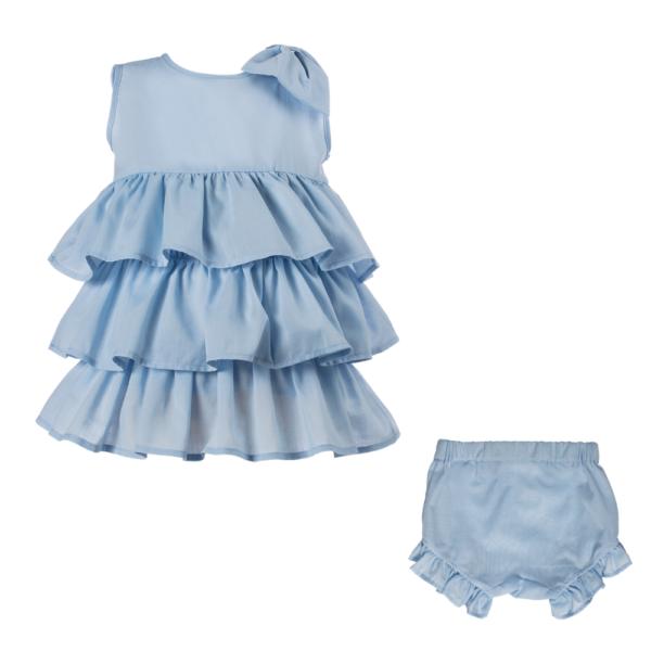 Abito da cerimonia color azzurro elegante da bambina