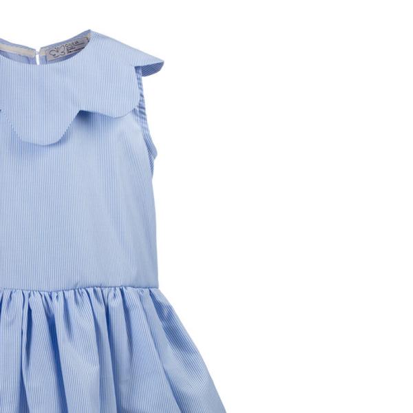dettaglio abito Aurora da bambina in cotone elegante