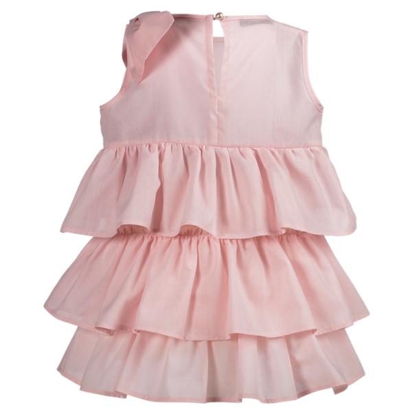 dettaglio abito rosa da cerimonia Beatrice da bambina