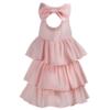 abito rosa da cerimonia in cotone Beatrice da bambina
