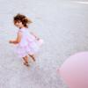 Abito cerimonia bambina lilla in cotone