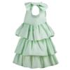 dettaglio laterale abito bambina cerimonia Beatrice verde
