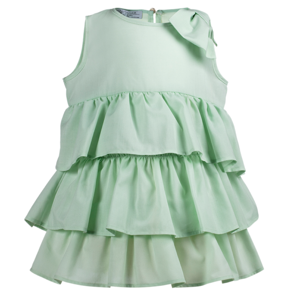 abito da bambina da cerimonia Beatrice verde