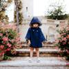 mantella impermeabile marinaretta da bambina