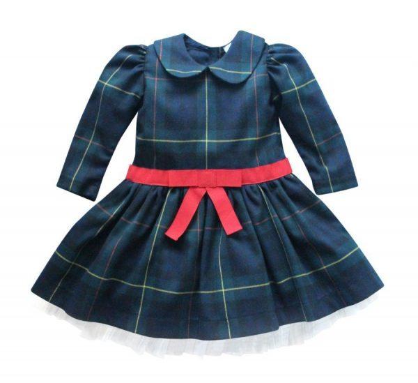 abito da bambina scozzese