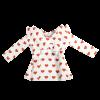 maglia a cuori bianca da bambina