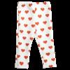 pantalone da bambina a cuori rosso e bianchi