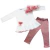 completo felpa da bambina rosa