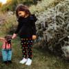 completo da bambina in neoprene a cuori maglia e pantalone