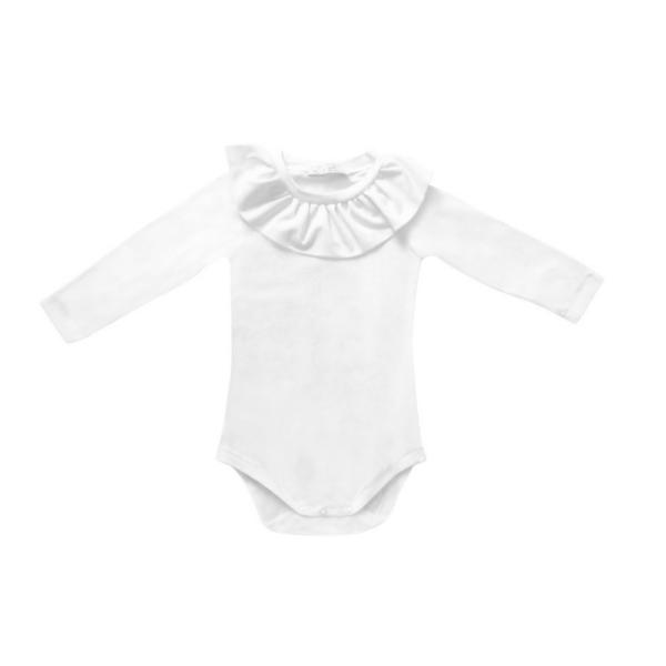 body in cotone bielatico da bambina