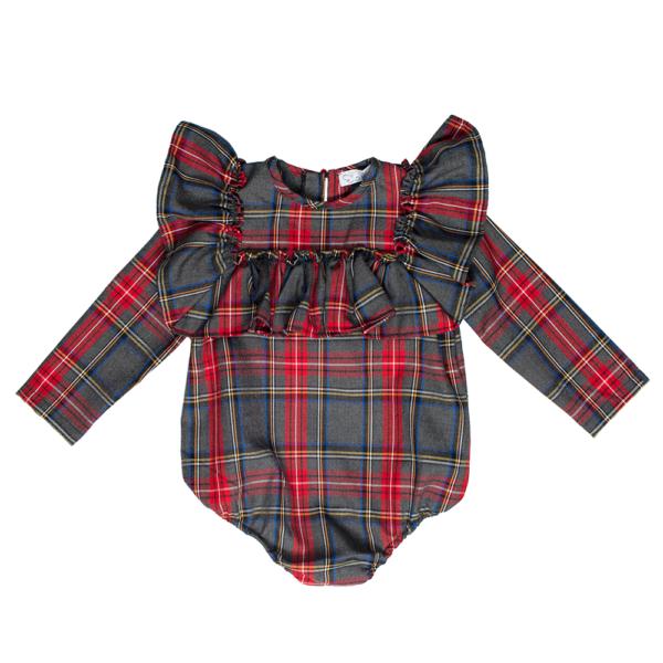 camicetta body Emma scozzese da bambina