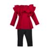 completo maglia e pantalone in neoprene da bambina