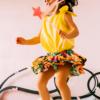 body giallo in cotone da bambina