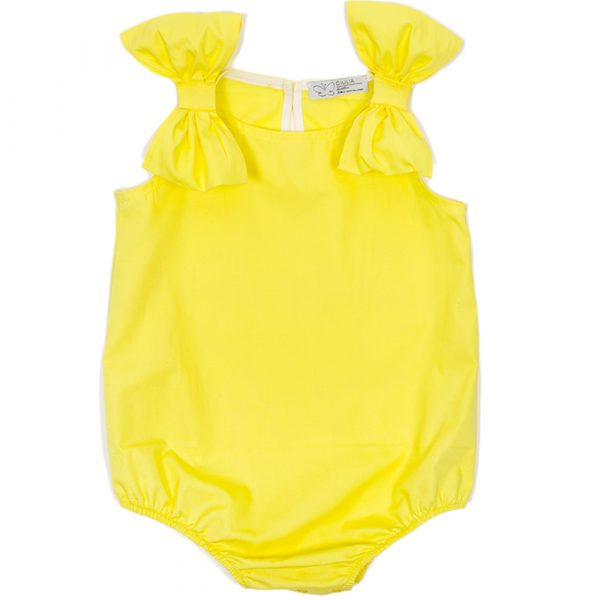 body da bambina giallo sole Ioris in cotone