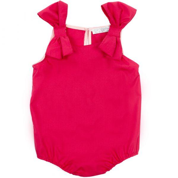 body Ioris da bambina rosso in cotone