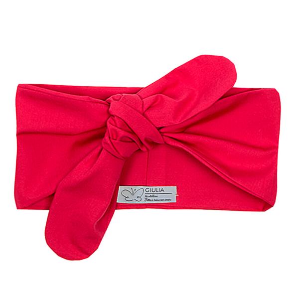 fascia Linda per capelli in cotone rossa
