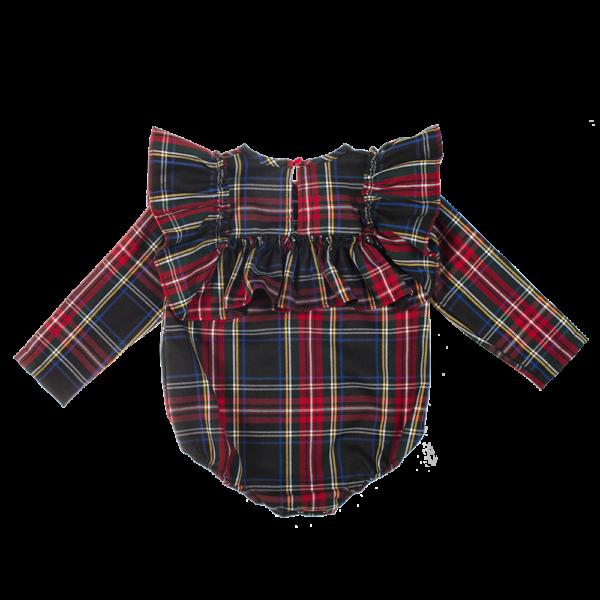 dettaglio retro camicia body tartan Emma da bambina