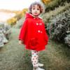 mantella cappuccetto rosso da bambina