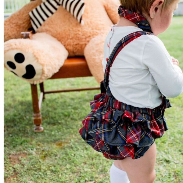 salopette Mia scozzese da bambina