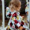 mantellina piumino a fiori 100 gr da bambina Giulia Mantelline