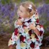 Piumino mantellina 100 gr a fiori da bambina Giulia Mantelline