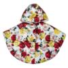 Piumino mantellina a fiori da bambina