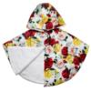 piumino mantellina a fiori 100 gr da bambina