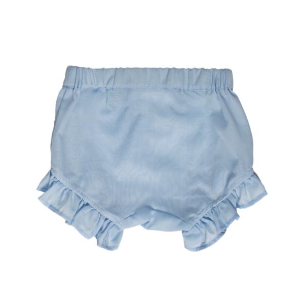 culotte azzurre in cotone da bambina