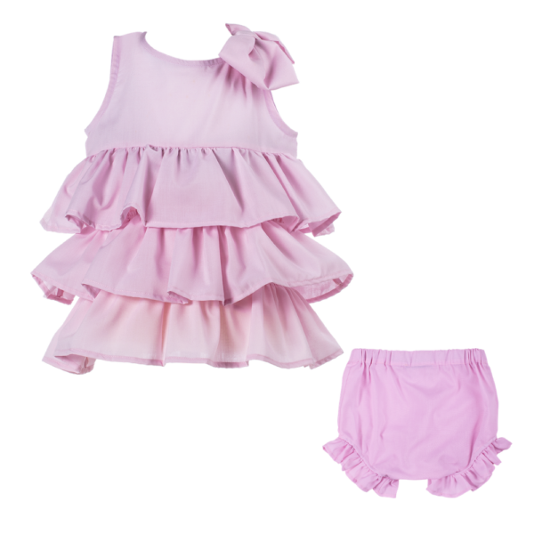 abito lilla da cerimonia bambina