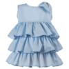 abito Beatrice da cerimonia bambina in cotone azzurro