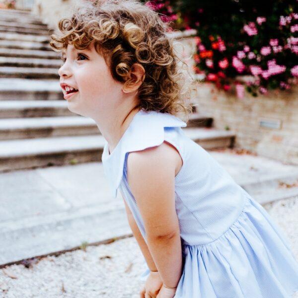 abito Aurora da bambina elegante in cotone
