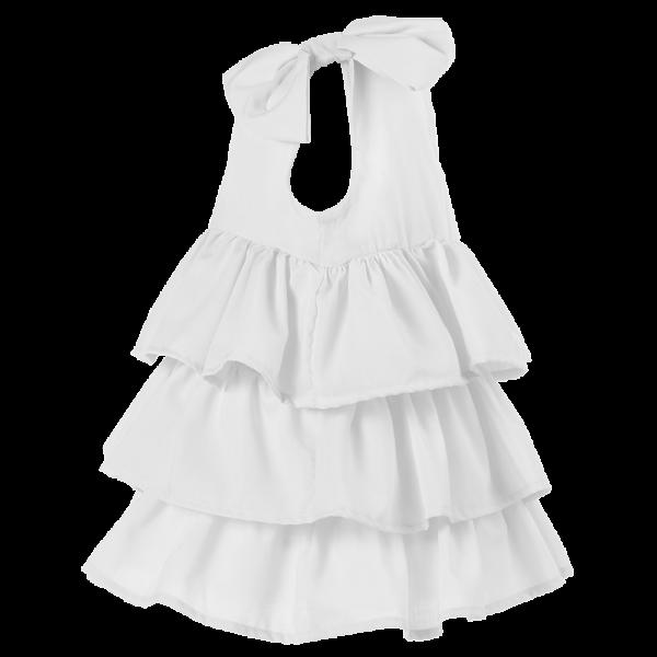 dettaglio abito bambina da battesimo bianco elegante