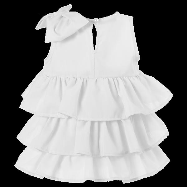 dettaglio abito cerimonia bambina bianco elegante