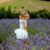 pagliaccetto Ioris bianco in cotone da bambina