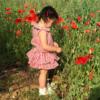 body in cotone a righe rosse per bambina