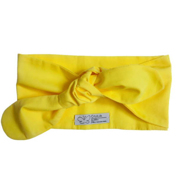 fascia per capelli in cotone giallo Linda