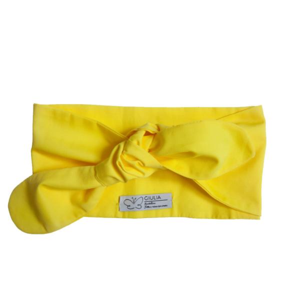 fascia per capelli Linda gialla in cotone