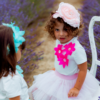 gonna in tulle rosa da bambina fino a 5 anni Giulia Mantelline