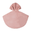 mantellina ecologica in pelliccia cipria da bambina