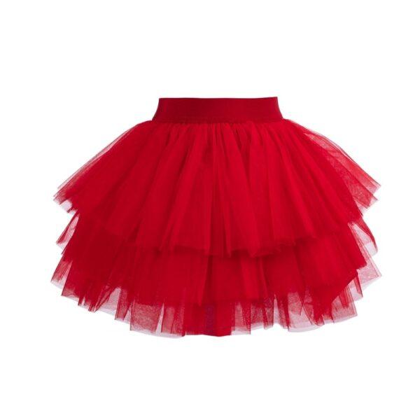 gonna Sofi in tulle rosso da bambina